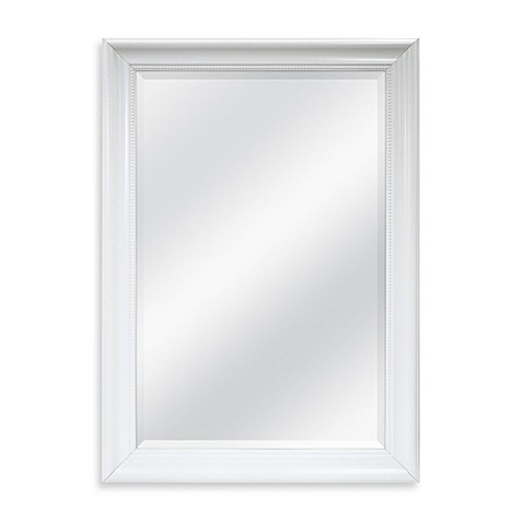 Decorative x wall mirror in white for Fancy white mirror