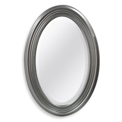 Decorative Oval Mirror With Silver Finish