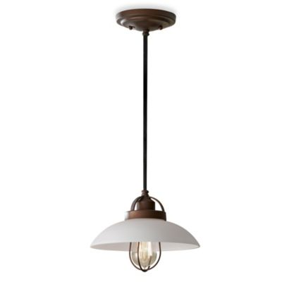 Feiss® Urban Renewal Single Light Bronze Patina Mini Pendant Light