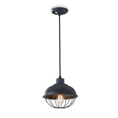 Feiss® Urban Renewal 1-Light Mini Pendant with Metal Shade and Cage