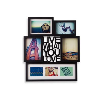 Umbra® Motto Photo Display in Black