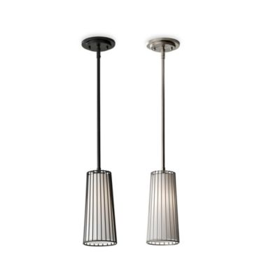 Feiss® Urban Renewal Steel Mini Pendant Lamp in Brushed Steel