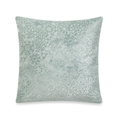 The Tallulah Collection by Kevin O'Brien Jardine Floral Burn Out Square Toss Pillow