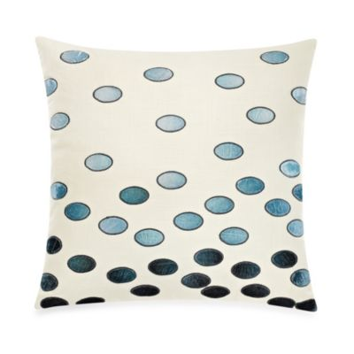 The Tallulah Collection by Kevin O'Brien Jardine Embroidered Dots Square Toss Pillow