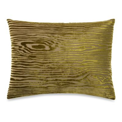 The Tallulah Collection by Kevin O'Brien Foglia Oblong Toss Pillow in Woodgrain Yellow