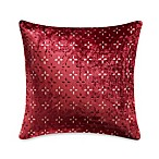The Tallulah Collection by Kevin O' Brien Khaya 18-Inch Pillow in Red Petal Burnout