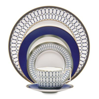 Blue Gold Place Setting