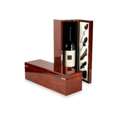 Red Vanilla 5-Piece Wine Accessory Set With Rosewood Box