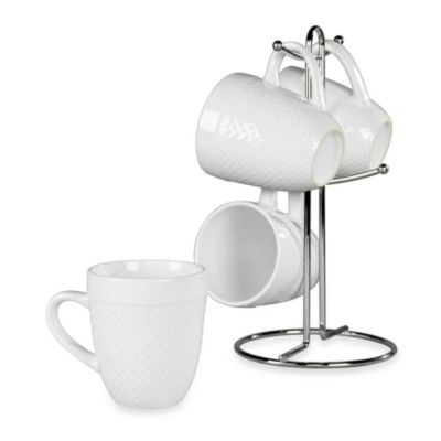 Tabletops Unlimited® Hobnail 5-Piece Mug Tree