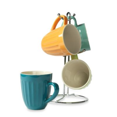 Tabletops Unlimited® 5-piece Classic Mug Tree in Multi-Color