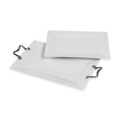 Tabletops Unlimited® Catalina Rectangluar Platters (Set of 2)