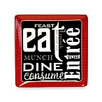 Certified International Eat at Mom's 12.25-Inch Square Platter