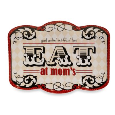 Certified International Eat at Mom's Rectangular 16-Inch x 11.75-Inch Platter