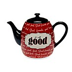 Certified International Eat at Mom's 40-Ounce Teapot