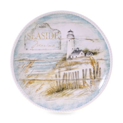 Certified International Beach Cottage 16-Inch Round Platter