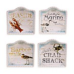 Certified International Beach Cottage Canape Plates (Set of 4)