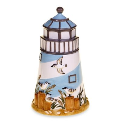 Certfiied International Beach Cottage 3D 11.25-Inch Cookie Jar