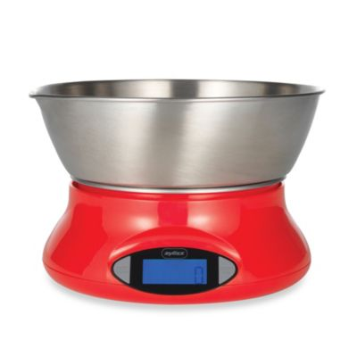 Zyliss® Electronic Kitchen Food Scale in Red
