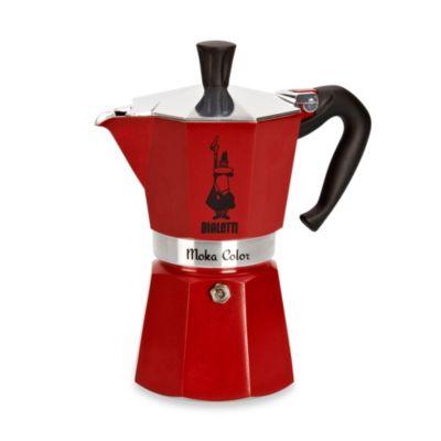 Bialetti® Moka Express Stovetop Espresso 6-Cup Coffee Maker in Bordeaux