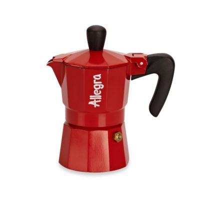Allegra 1-Cup Espresso Coffee Maker in Red