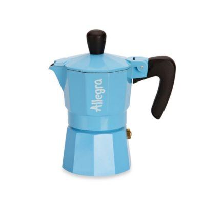 Allegra 1-Cup Espresso Coffee Maker in Light Blue