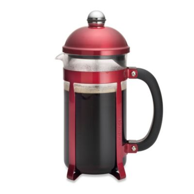 BonJour® Coffee and Tea Maximus 8-Cup French Press in Red