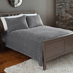 The Seasons Collection® Plush Quilt and Sham Set in Ash
