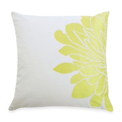 Blissliving® Home Gemini Square Throw Pillow in Citron