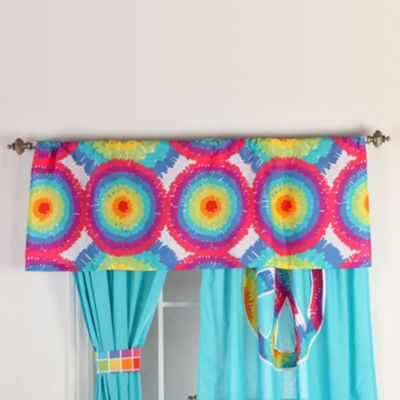 One Grace Place Terrific Tie Dye Window Valance