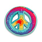 One Grace Place Terrific Tie Dye Peace Sign Decorative Pillow
