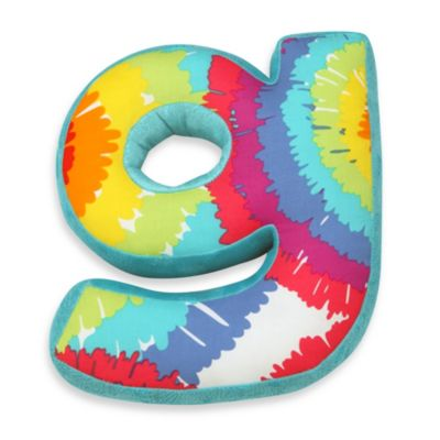 "One Grace Place Terrific Tie Dye Decorative Letter ""G Pillow"