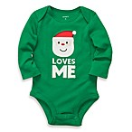 Carter's® Santa Loves Me Bodysuit in Green