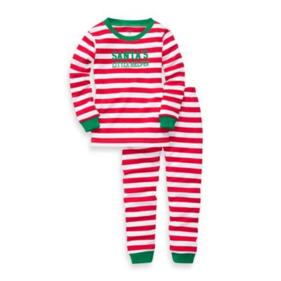 Carter's® Red Stripe Santa's Little Helper Cotton 2-Piece PJs