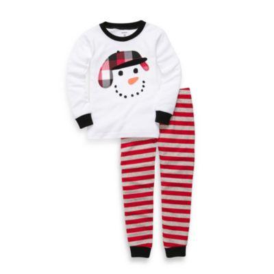 Snowman Cotton 2-Piece PJs