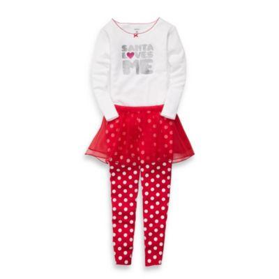 Carter's® Santa Loves Me Size 18 Months 2-Piece Tutu Set