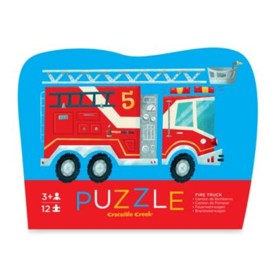 Crocodile Creek 12-Piece Mini Shaped Fire Truck Puzzle