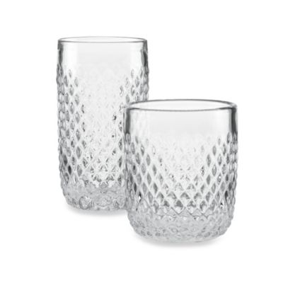 Kathy Ireland Home by Gorham Ki Coronado 13 oz. Double Old Fashioned Glasses (Set of 4)
