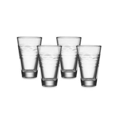 Kathy Ireland Home by Gorham Ki Kahala four 12 oz. Highball Glasses