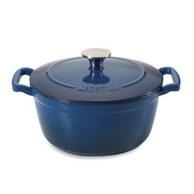 Sabatier® Cast Iron Dutch Ovens in Porcelain Blue