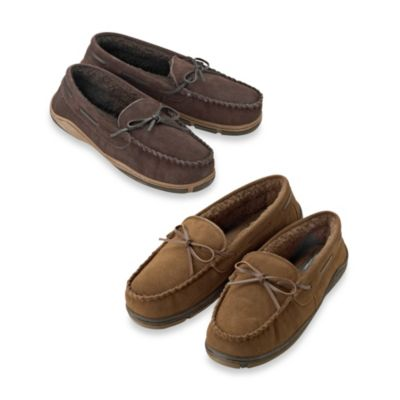 Rockport® Men's Size 9 Genuine Suede Moccasin Slipper in Brown