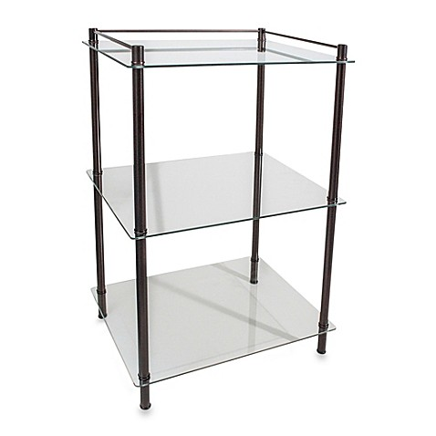 Buy Decopolitan Rectangle Glass 3 Shelf Tower In Oil