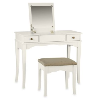 Kendal White Vanity Set