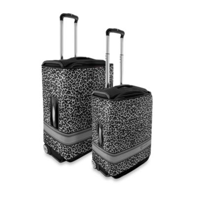 Coverlugg Luggage Protector Collection in Black Leopard