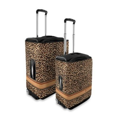 Coverlugg Luggage Protector Collection in Brown Leopard