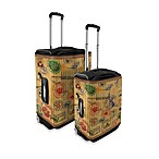 Coverlugg Luggage Protector Collection in Stamps