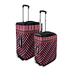Coverlugg Luggage Protectors in Pink Polka Dots