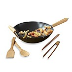 IMUSA® 6-Piece Nonstick Carbon Steel Wok Set