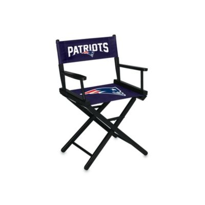 New England Patriots NFL Table Height Director Chair