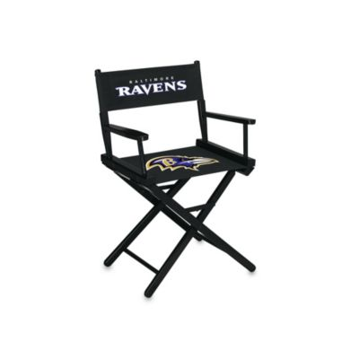 NFL Baltimore Ravens Table Height Director Chair