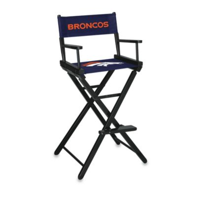 NFL Denver Broncos Bar Height Directors Chair